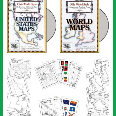 TOS Crew Review – Homeschool in the Woods Map Sets