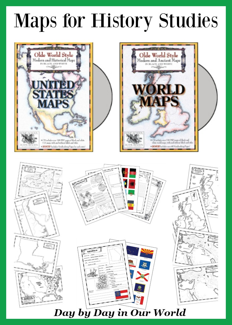 Homeschool in the Woods Map Sets for History Studies