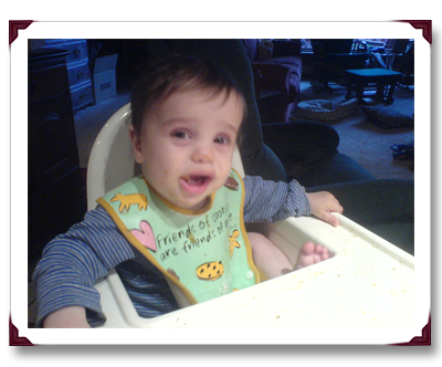 Wordless Wednesday ~ Highchair Posture