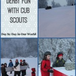 Snowbox Derby Fun with the Cub Scouts