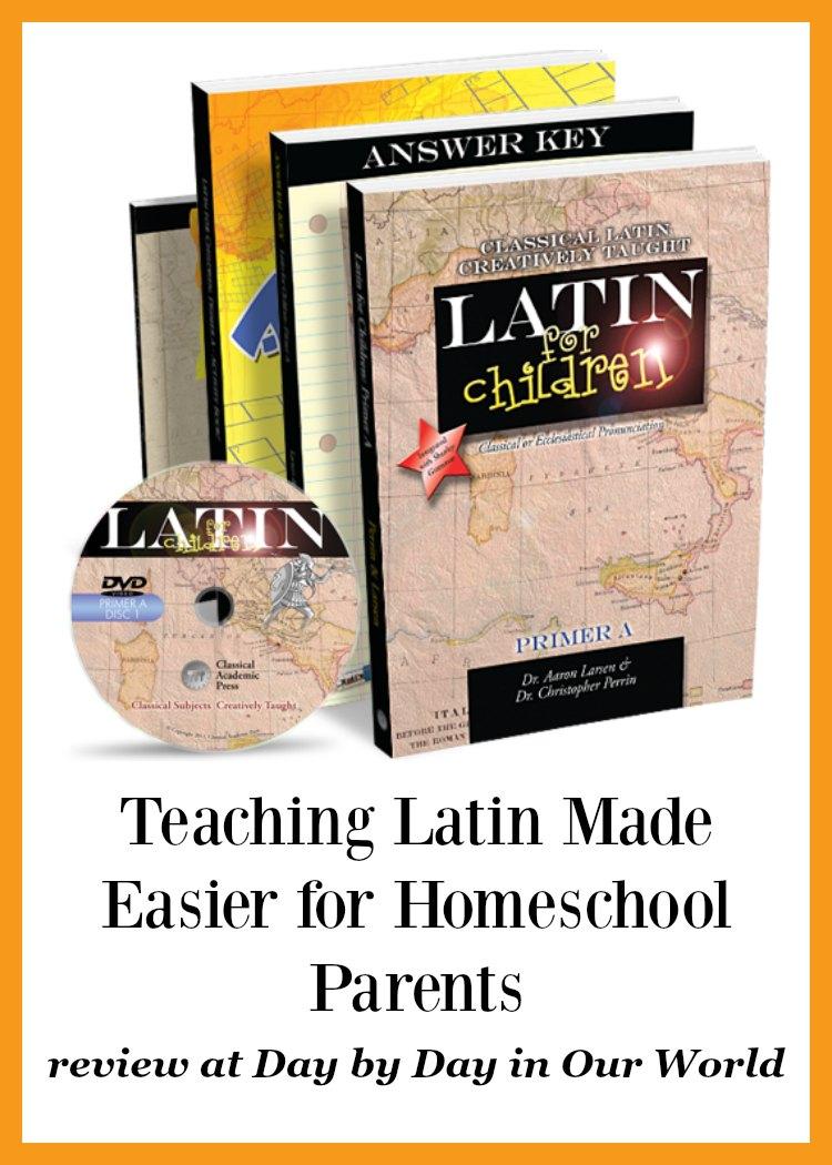 Teaching Latin Made Easier for Homeschool Parents Latin for Children