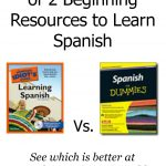 Learning Spanish vs. Spanish for Dummies, a review