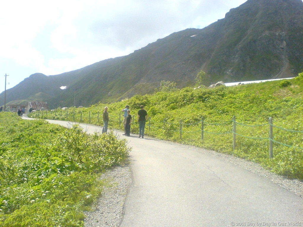 Walking up to the site of Independence Mine