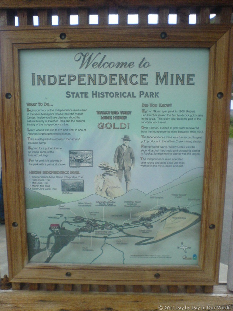 Sign Welcoming Visitors to Independence Mine
