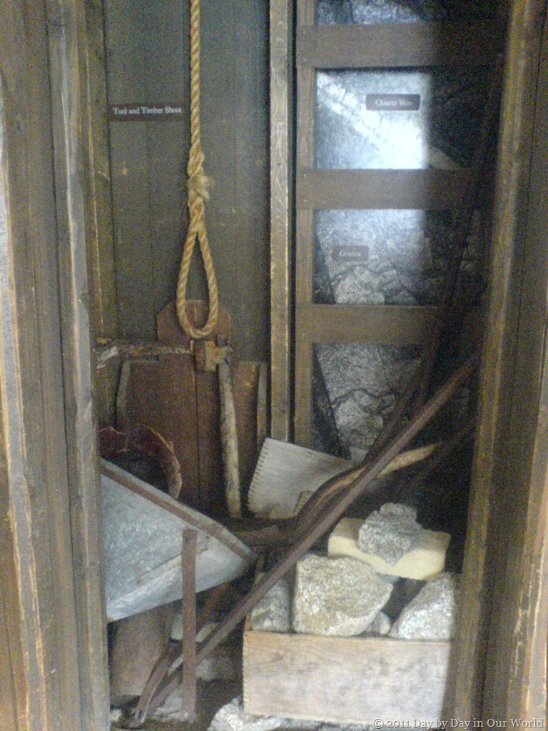 Exhibit showing a glimpse of mining life