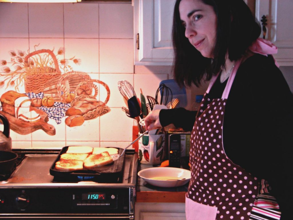 Cooking Brunch Wearing Flirty Apron