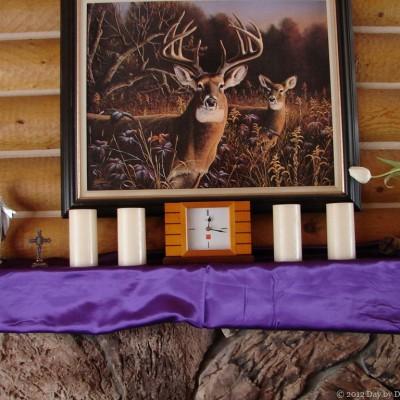 40 Days of Seeking Him Lent 2012 ~ Day 16: Lenten Mantel