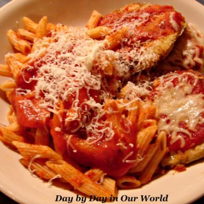 Eggplant Parmesan, Great Meatless Italian Dish