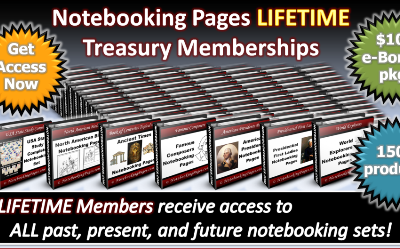 Notebooking Pages Sale on Treasury Memberships through the Weekend!