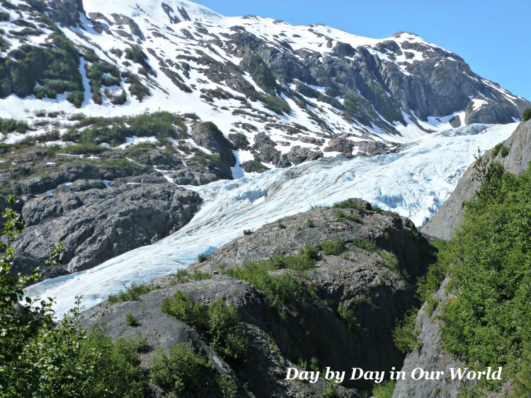 Up Close Look at Exit Glacier outside Seward Alaska