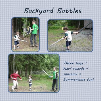 Wordless Wednesday ~ Backyard Battles!