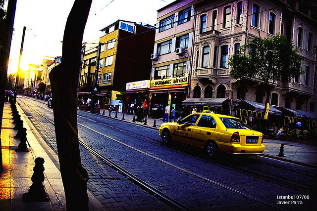 Taxi Cab on Street