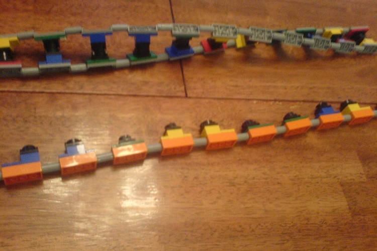 LEGO DNA and RNA kits in action