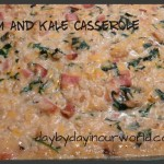 Rich and Creamy Ham and Kale Casserole
