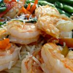 Shrimp with Peppers and Spinach