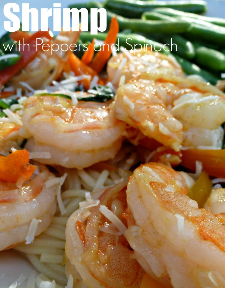 Shrimp with Peppers and Spinach is a quick meal for everyday or special occasions