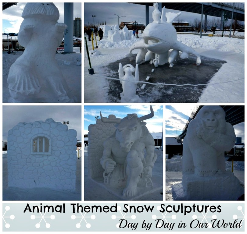 animal snow sculptures - photo #20