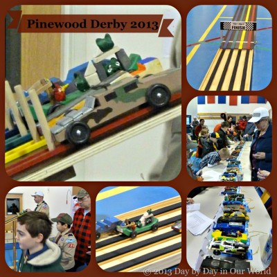 Pinewood Derby Fun for Cub Scouts 2013