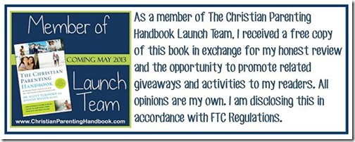 Christian Parenting Launch Team Disclosure