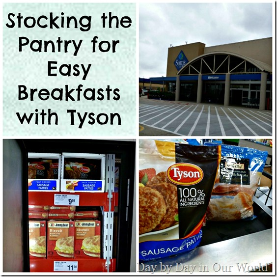 Stocking Pantry Easy Breakfasts Tyson #cbias #socialfabric