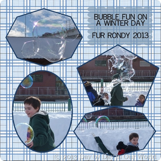 Bubble Fun on a Winter Day Fur Rondy 2013
