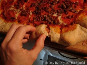 Homemade Stuffed Crust Pizzza