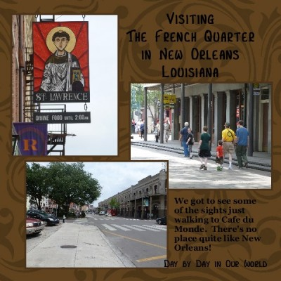 Visiting the French Quarter