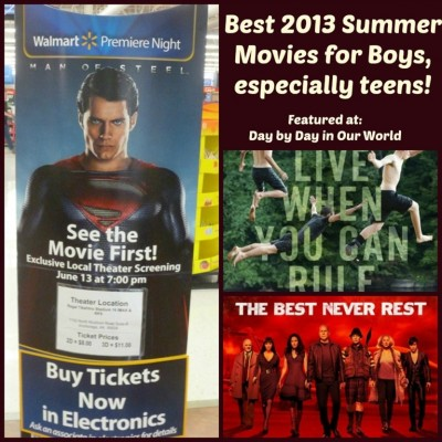 Best 2013 Summer Movies for Boys, especially teens! #SeeSteelFirst #ad