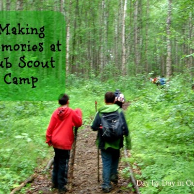 Making Memories at Cub Scout Camp