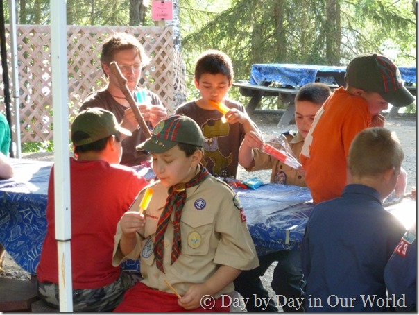 Popsicles to Cool Down after a long hot day at Cub Scout Camp