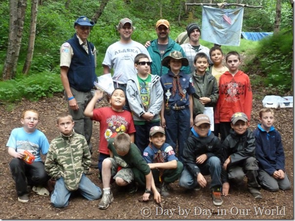 Group Photo of Webelos at the end of Cub Scout Camp