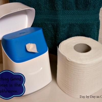Teaching Good Hygiene in the Bathroom with Cottonelle Clean Care #CottonelleRoutine #cbias #SocialFabric