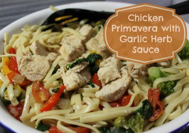 Chicken Primevera with #SauteExpress Garlic Herb Sauce #shop