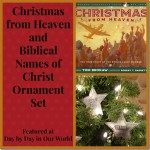 Christmas from Heaven and Biblical Names of Christ Ornament Set