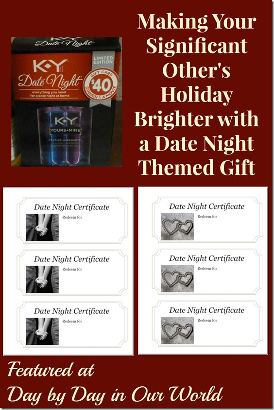 Making Your Significant Other's Holiday Brighter with a Date Night Themed Gift #KYdatenight #ad #cbias