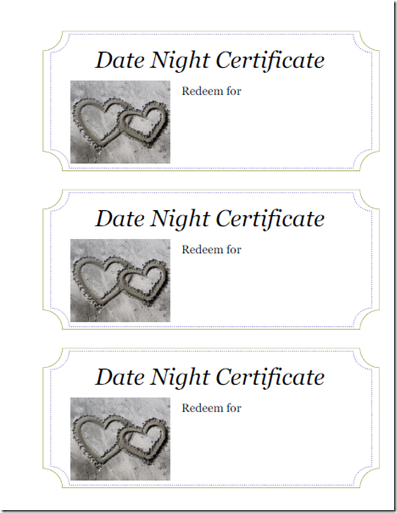 Interlocking Hearts Date Night Certificate #CBIAS #KYdatenight #ad