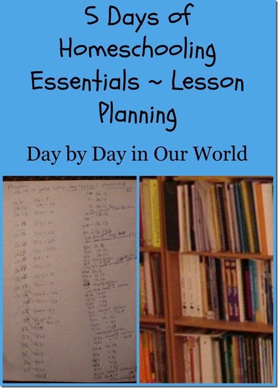 5 Days of Homeschooling Essentials Lesson Planning Day by Day in Our World