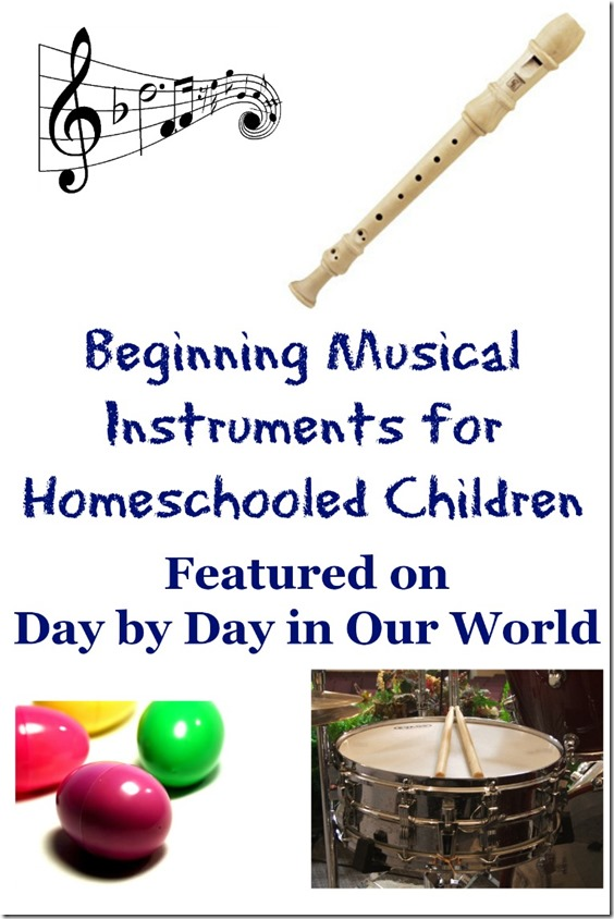 Beginning Musical Instruments for Homeschooled Children
