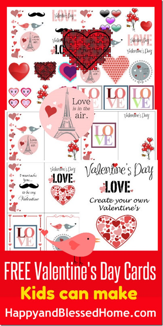 Valentine 39 s day cards to make at home day by day in our for Valentine day at home
