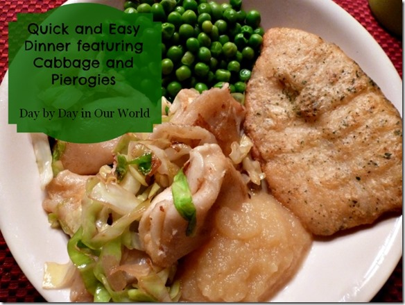 Quick and Easy Dinner featuring Cabbage and Pierogies
