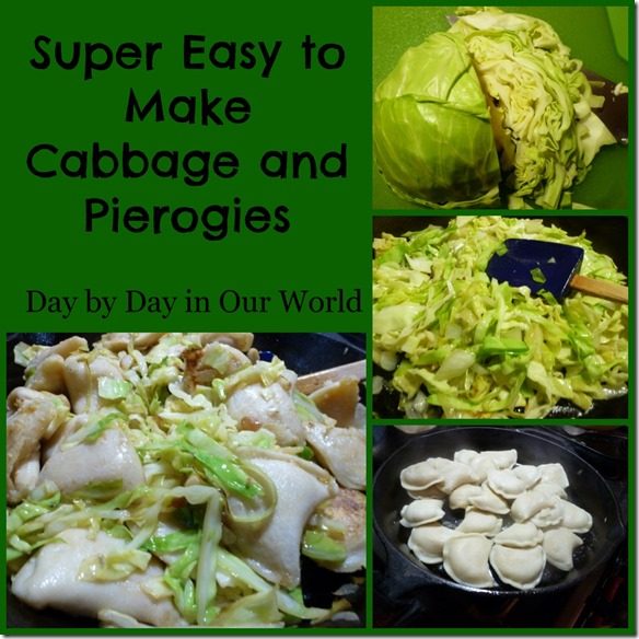 Super Easy to Make Cabbage and Pierogies