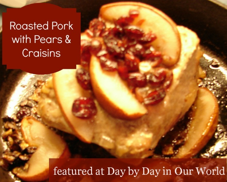 Roast Pork with Pears and Craisins