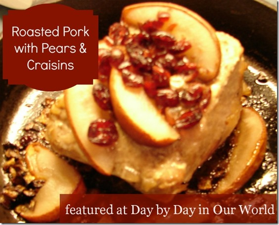 Roasted Pork with Pears and Craisins