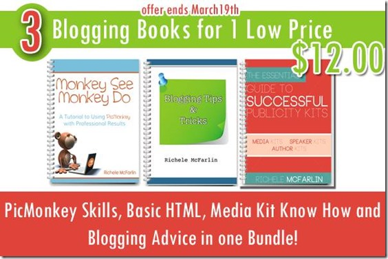 Monkey See, Monkey Do (a PicMonkey Tutorial) and Publicity Kit Bundle Launch Week Pricing