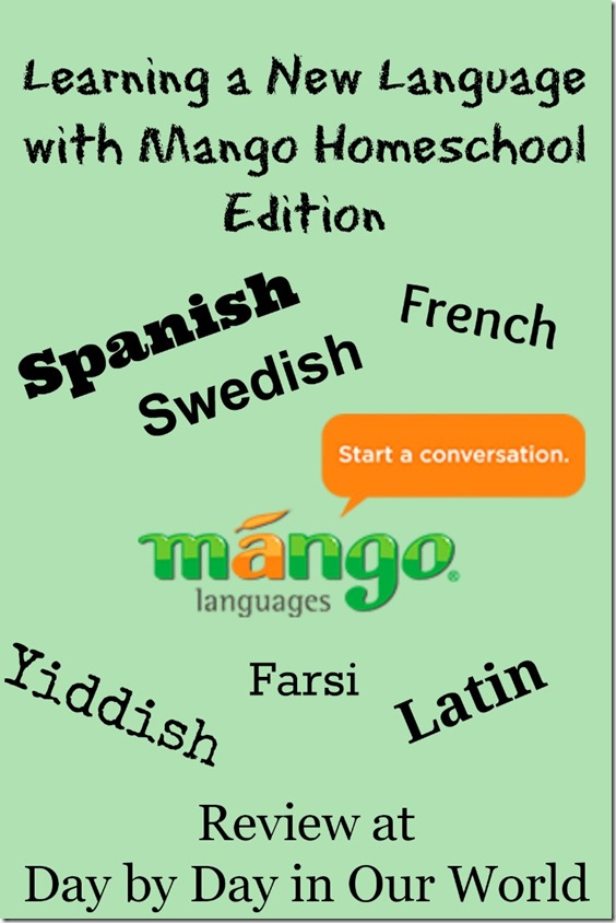 Learning a New Language with Mango Homeschool Edition #hsreview