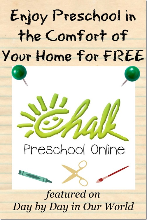 Enjoy Preschool in the Comfort of Your Home for FREE Chalk Preschool #Ad