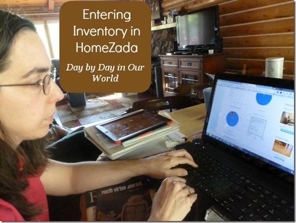Entering Inventory in HomeZada