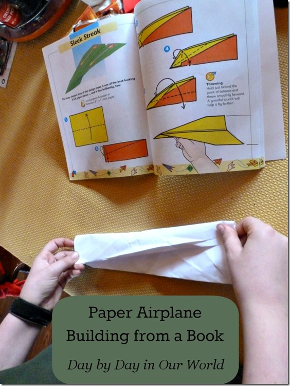 Paper Airplane Building from a Book