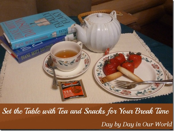 Set the Table with Tea and Snacks for Your Break Time  #AmericasTea #CollectiveBias
