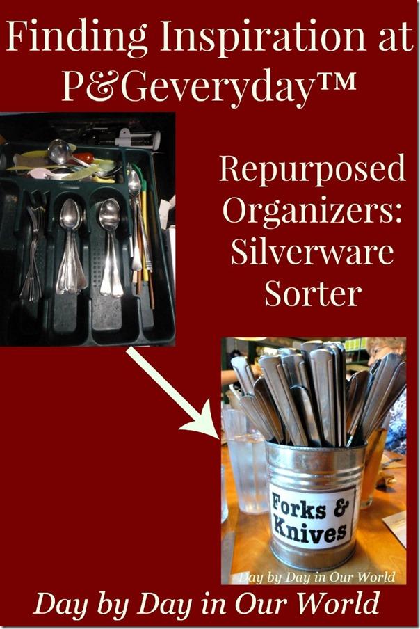Repurposed Organizers Silverware Sorter
